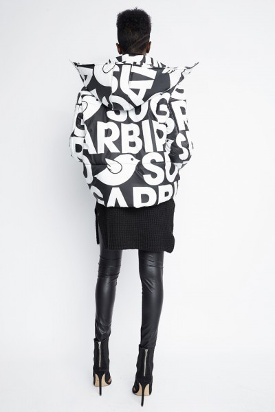 Harven logo print coat