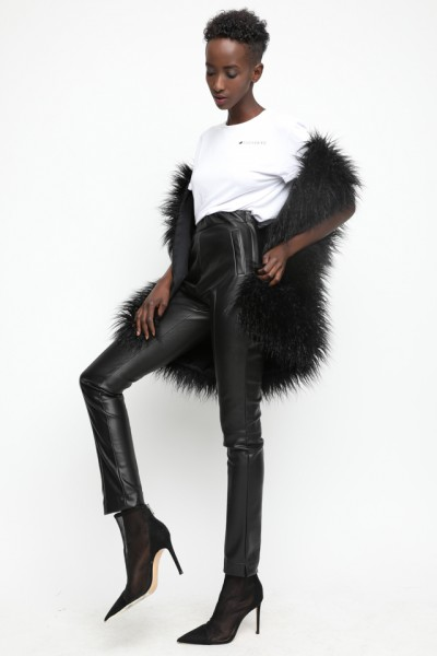 Indof leatherette trousers
