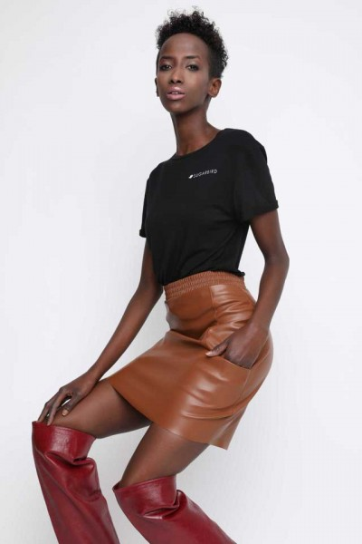 Sugarbird Felicity leather skirt
