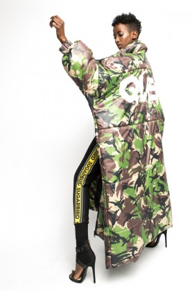 Sugarbird Daleko Queen camouflage coat